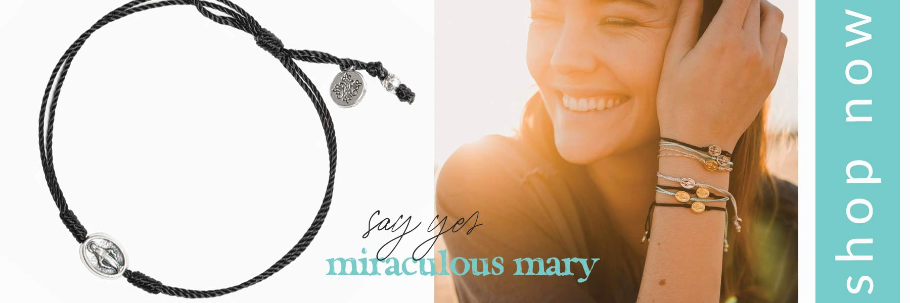 Say Yes Miraculous Mary Dainty Blessing Bracelet