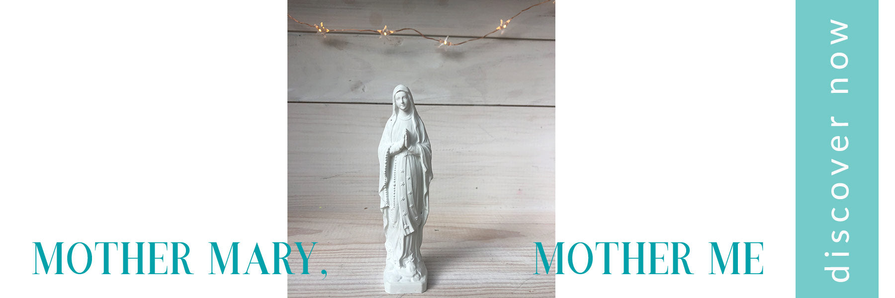 Our Lady of Lourdes Statue Shop Now Link with picture of Our Blessed Mother French statue