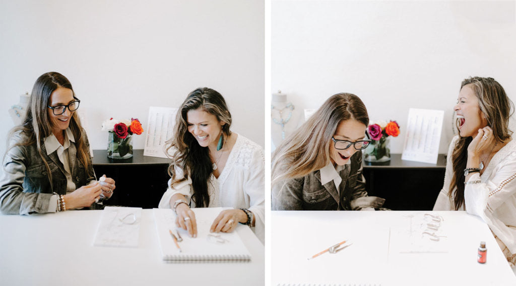 Amy D'Ambra and Nia Peeples designing the Empower Seed of Life Collection