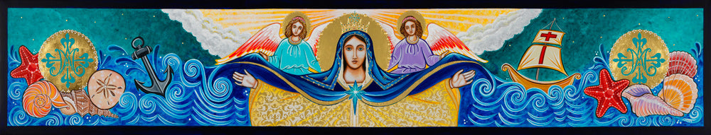 Original Artwork Mary Star of the Sea Icon