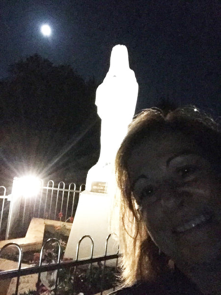 Our Lady Queen of Peace statue on Apparition Hill