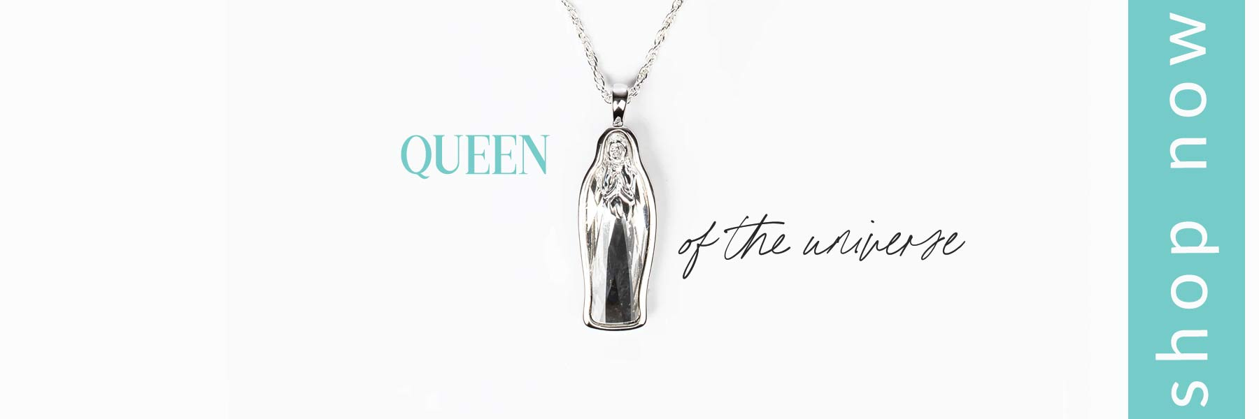 Crystal Mary Queen of the Universe Necklace