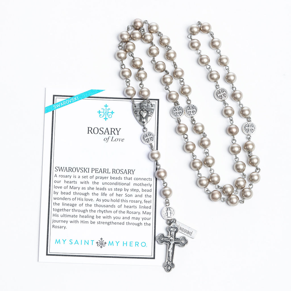 My Saint My Hero Swarovski Rosary of Love