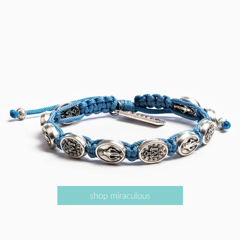 Miraculous Mary Woven Blessing Bracelet