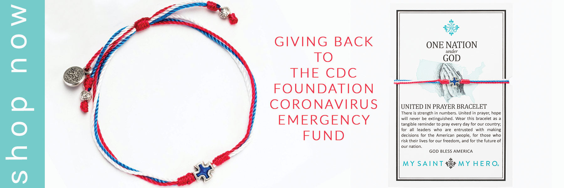 Shop One Nation Under God Giving Back Blessing Bracelet