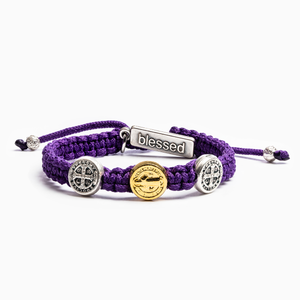 Purple Blessing for Kids Benedictine Blessing Bracelet