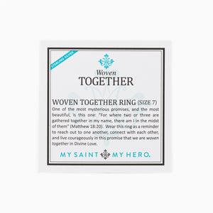 Woven Together Ring Card