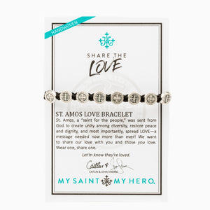 In exclusive partnership with Caitlin and John Stamos, My Saint My Hero is proud to produce the St. Amos Share the Love Bracelet with a portion of proceeds dedicated to the non-profit, Childhelp.