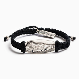 Protection Guardian Angel Wing Bracelet - Black/Silver