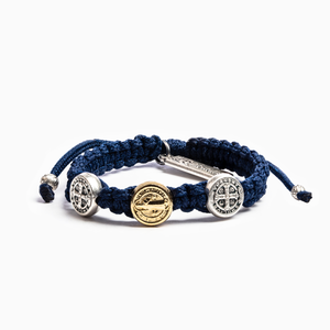 Navy Blessing for Kids Benedictine Blessing Bracelet