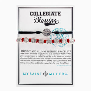 Collegiate Blessing Bracelet Black Serenity Red Benedictine 