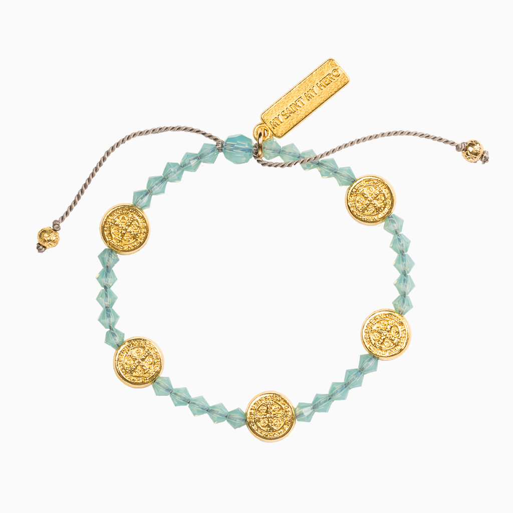 Stellar Blessings Ocean Blessing Bracelet with Swarovski Crystals and Benedictine Medals