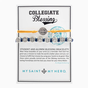 Collegiate Blessing Bracelet Maize Yellow Serenity Navy Benedictine 