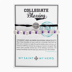 Collegiate Blessing Bracelet Black Serenity Purple Benedictine 