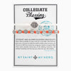 Collegiate Blessing Bracelet White Serenity Orange Benedictine 