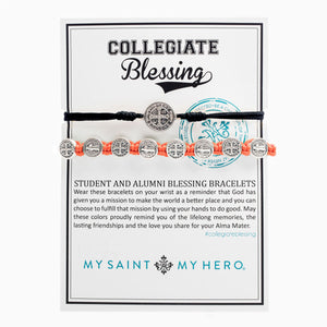 Collegiate Blessing Bracelet Black Serenity Orange Benedictine 