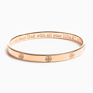 The Greatest Love Deuteronomy 6:5 Bangle - Vermeil Rose Gold