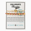 Collegiate Blessing Bracelet Metallic Gold Serenity Red Benedictine 