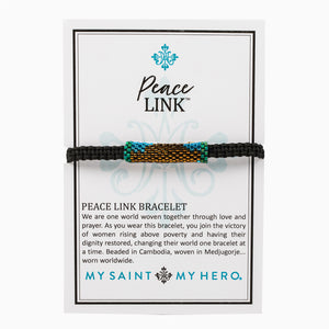 Peace Link Beaded Blessing Bracelet