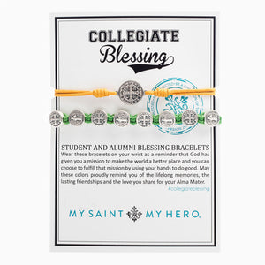 Collegiate Blessing Bracelet Maize Yellow Serenity Green Benedictine 