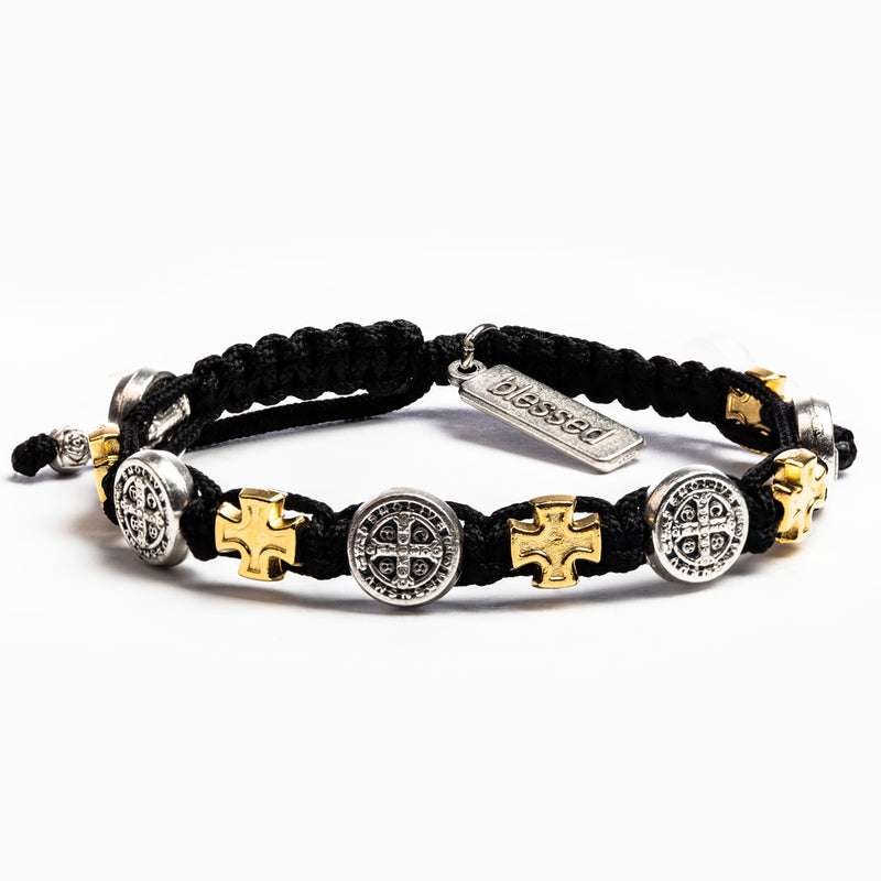 Blessings in Faith Bracelet - Black/Mixed