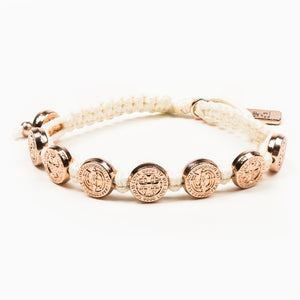 Share the Love St. Amos Love Bracelet - White/Rose Gold