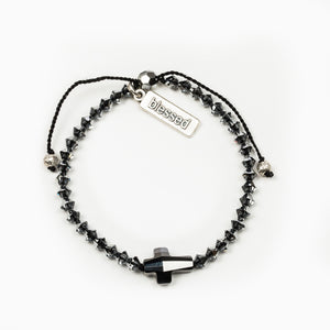 Radiant Let There Be Light Bracelet - Swarovski Crystals in Silver Night