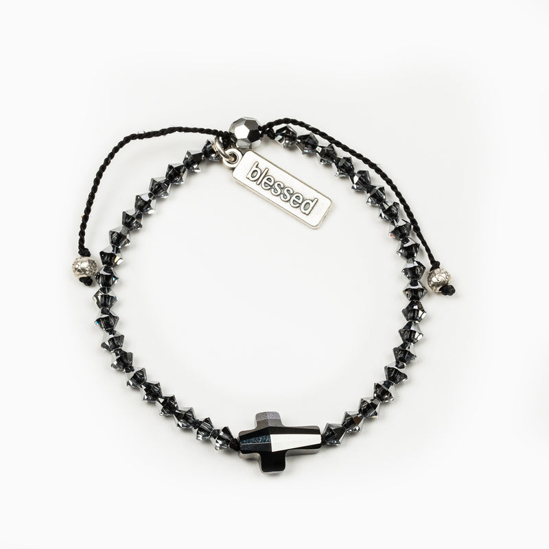 Radiant Let There Be Light Bracelet - Premium European Crystals in Silver Night