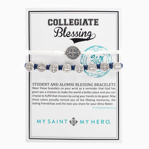 Collegiate Blessing Bracelet White Serenity Navy Benedictine 
