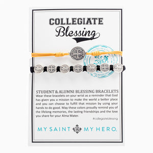 Collegiate Blessing Bracelet Maize Yellow Serenity Black Benedictine 