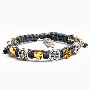 Blessings in Faith Bracelet - Slate/Mixed