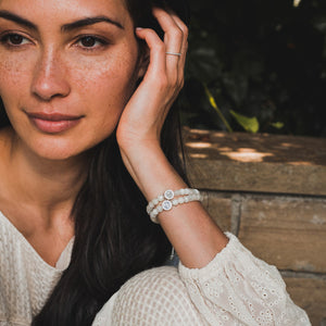 A Mother's Love Moonstone Fertility Bracelet created with Caitlin McHugh Stamos