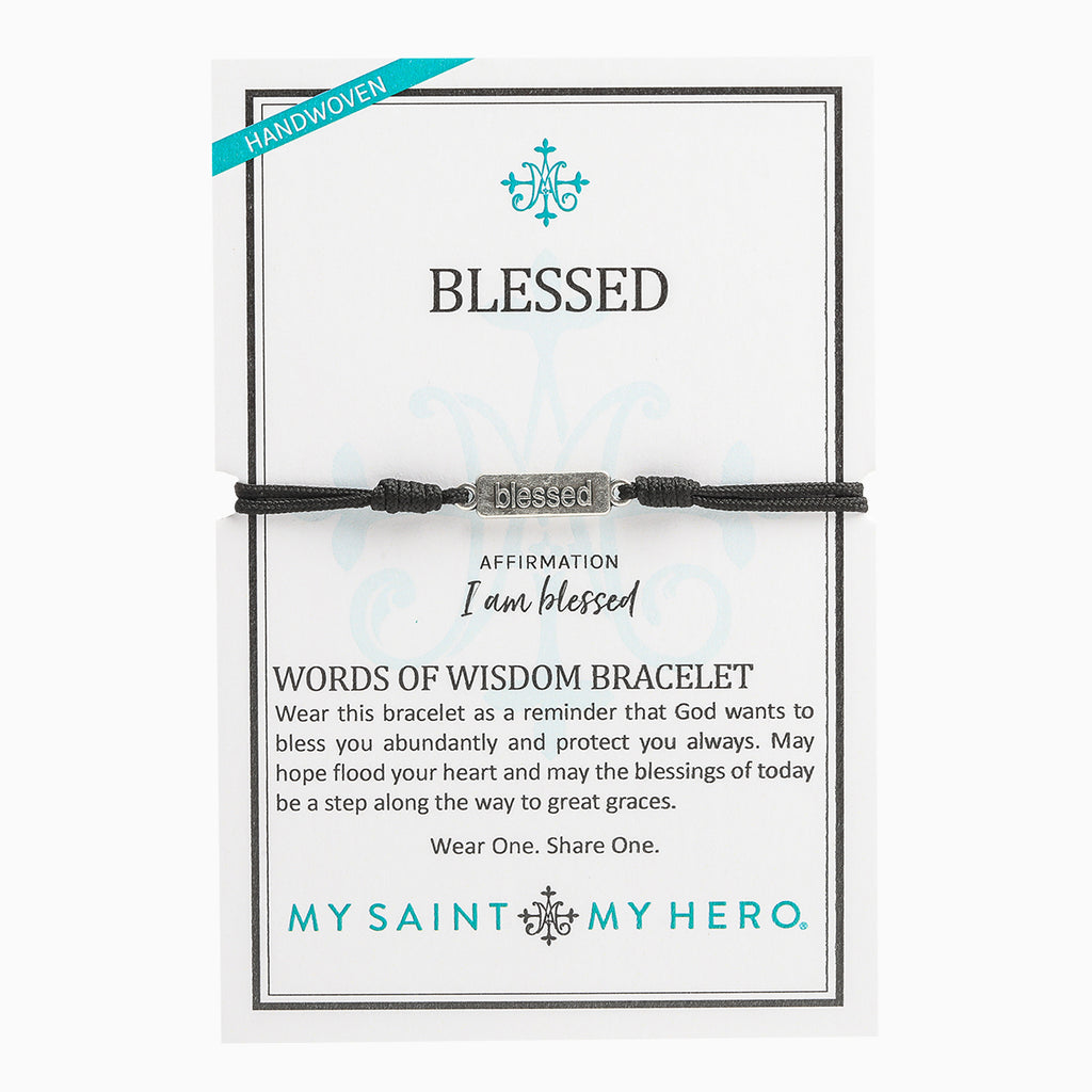 Blessed Words of Wisdom Bracelet on Inspirational Card