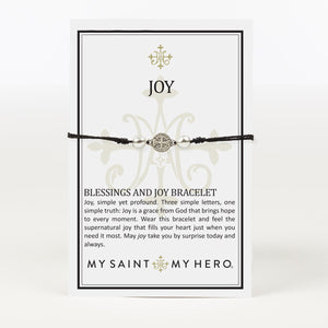 blessings and joy crystal and Benedictine Blessing Bracelet on Inspirational Card