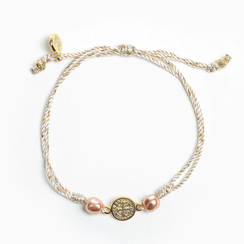 Blessings and Joy Bracelet - Metallics with Platinum Swarovski Pearl
