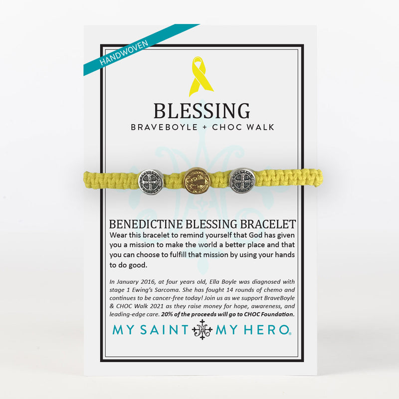 BraveBoyle + CHOC Benedictine Blessing Bracelet for Kids