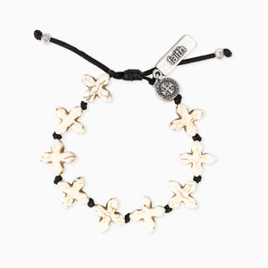 Grounded in Faith Bracelet White Howlite