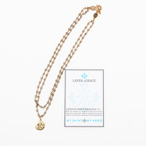Layer of Grace Necklace Gold with Inspiration Card