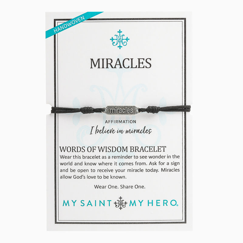 Miracles - Words of Wisdom Bracelet