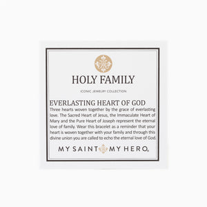 Holy Family Everlasting Heart of God Cuff Bracelet Card