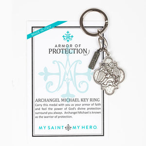 Archangel Michael Armor of Protection Key Ring