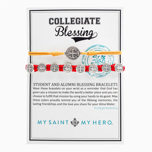 Collegiate Blessing Bracelet Maize Yellow Serenity Red Benedictine 