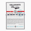Collegiate Blessing Bracelet Red Serenity Navy Benedictine 