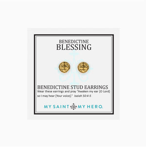 Benedictine Stud Earrings