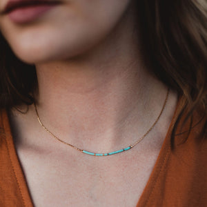 Blessed is She Morse Code Necklace