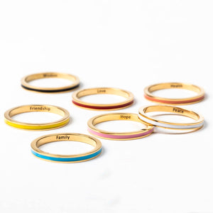 Colorful Blessing Bands with Blessings imprinted inside