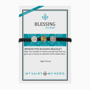 Blessing for Kids Benedictine Blessing Bracelet on inspirational card