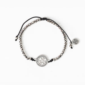 Empower Seed of Life Illuminate Bracelet - Silver/Silver