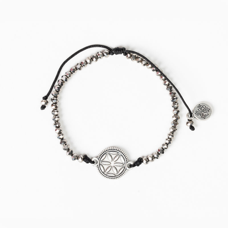 Empower Seed of Life Illuminate Bracelet Silver