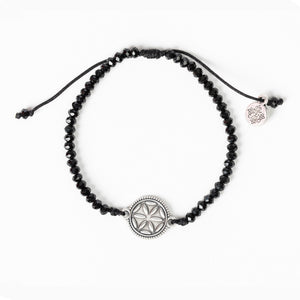 Empower Seed of Life Illuminate Bracelet - Black/Silver